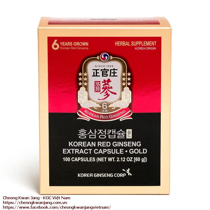 viên uống hồng sâm Extract Capsule Gold 60g