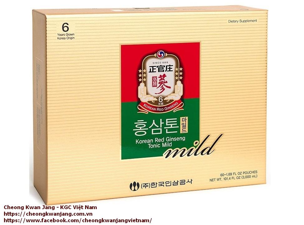nước hồng sâm cao cấp kgc tonic mild 60 gói