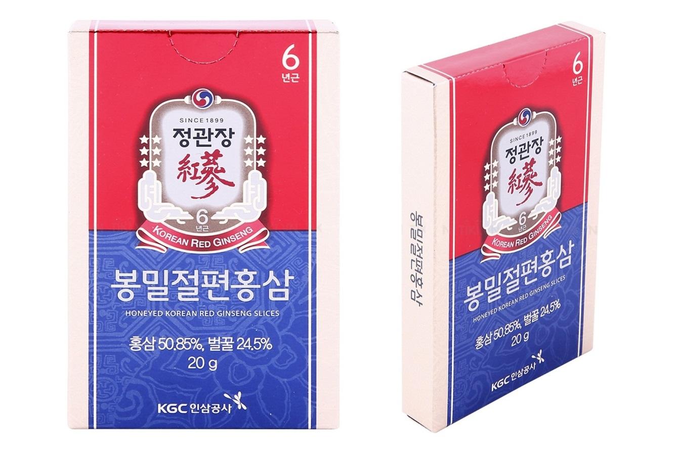 hồng sâm thái lát tẩm mật ong kgc