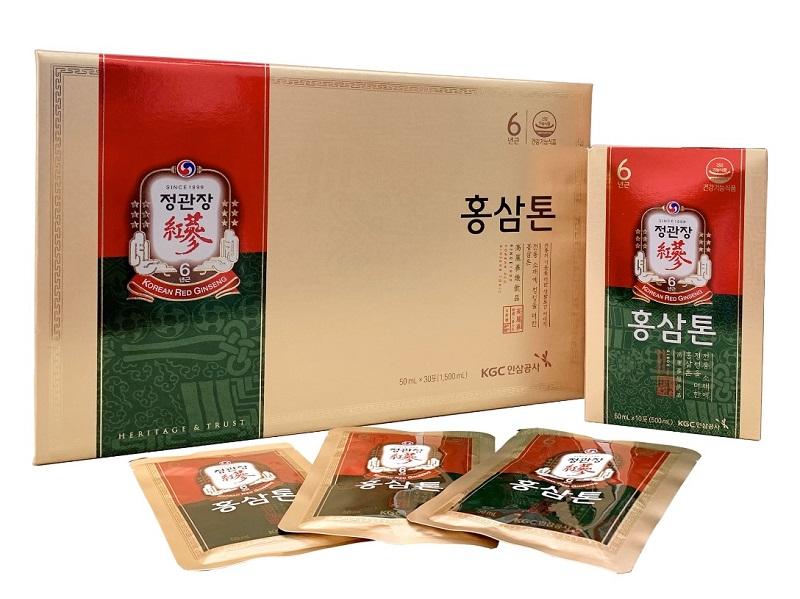 Sâm hàn quốc dạng gói pha sẵn KGC Tonic Gold